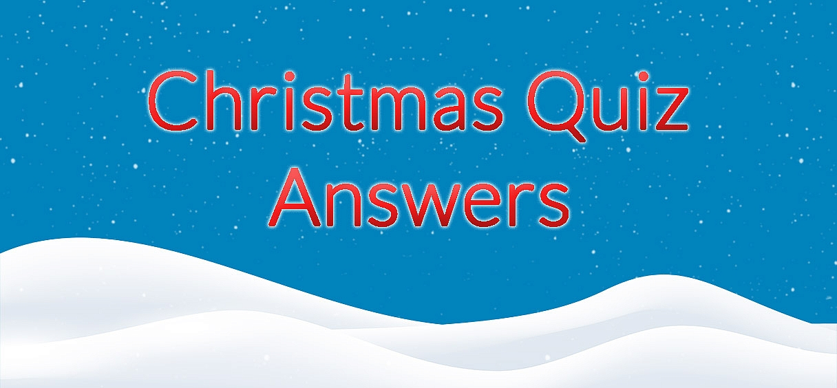 Family Christmas Party Quiz (Part 1 Answers)