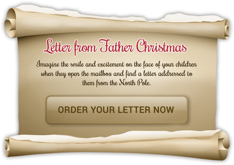 Letter from Father Christmas - Imagine the smile and excitement on the face of your children when they open the mailbox and find a letter addressed to them from the North Pole